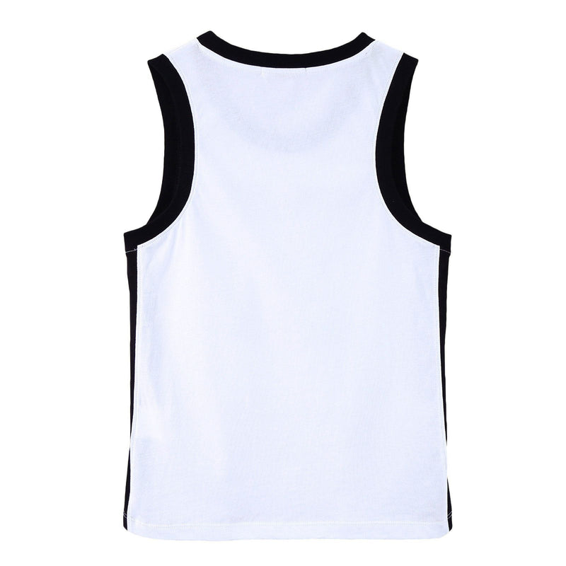 Boys White Cotton Jersey Vest With '77' Print Logo - CÉMAROSE | Children's Fashion Store - 2