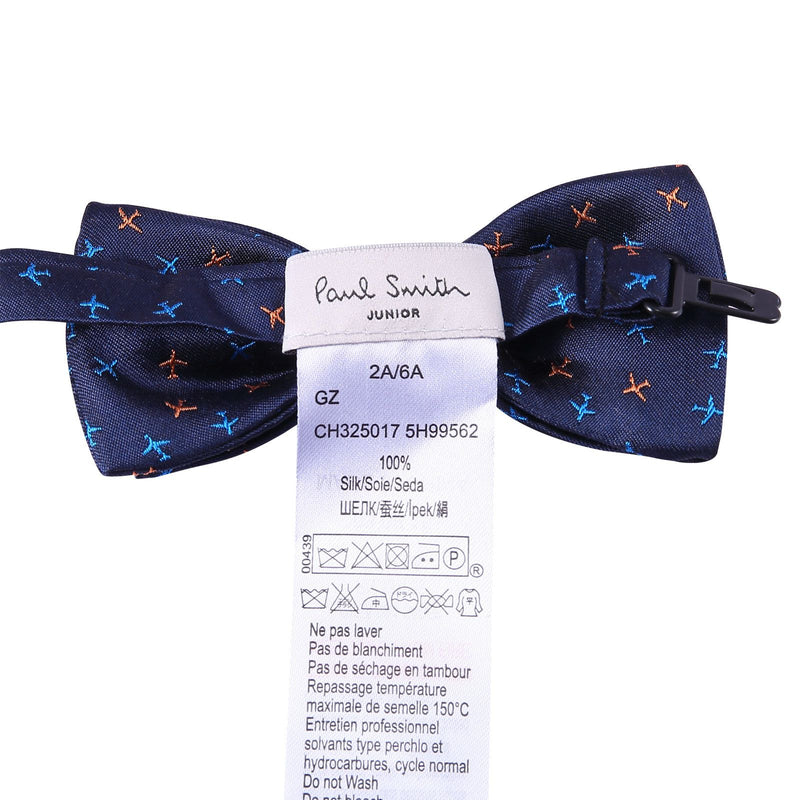 Boys Navy Blue Embroidered Trims Silk Bow Ties - CÉMAROSE | Children's Fashion Store - 2