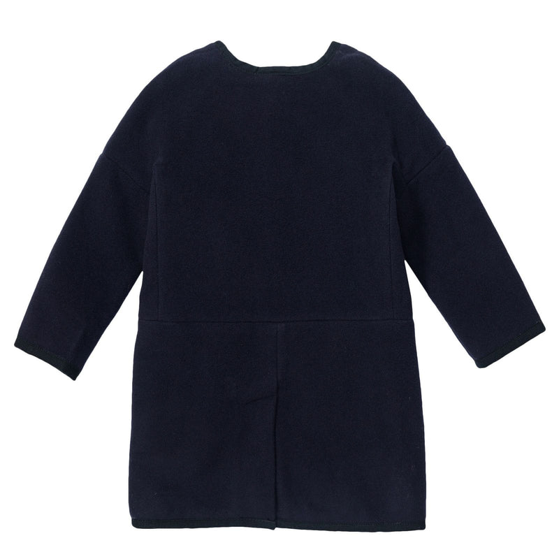 Gils Navy Blue Fur Lined Coat With Pockets - CÉMAROSE | Children's Fashion Store - 2