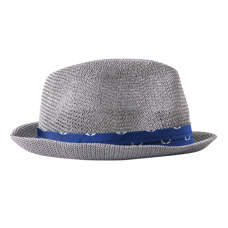 Boys Grey Hat With Blue Ribbon Trims - CÉMAROSE | Children's Fashion Store - 2
