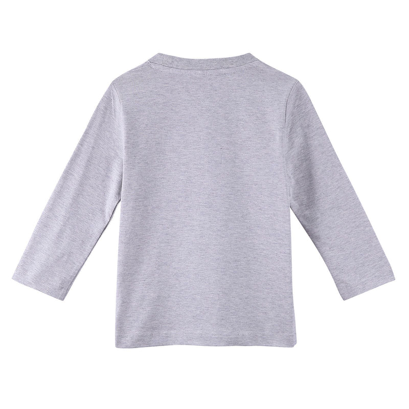 Boys Grey Fancy Illustration Printed Cotton Long Sleeve T-Shirt - CÉMAROSE | Children's Fashion Store - 2