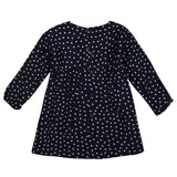 Girls Navy Blue Spot Printed Dress - CÉMAROSE | Children's Fashion Store - 2