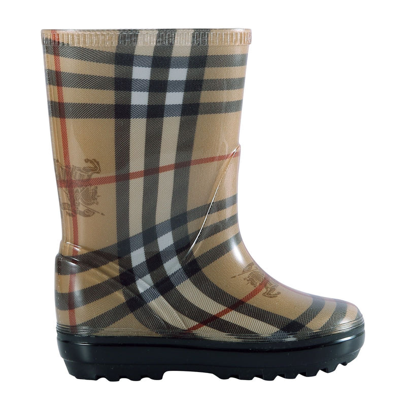 Baby Beige Check Rain Boots - CÉMAROSE | Children's Fashion Store - 2