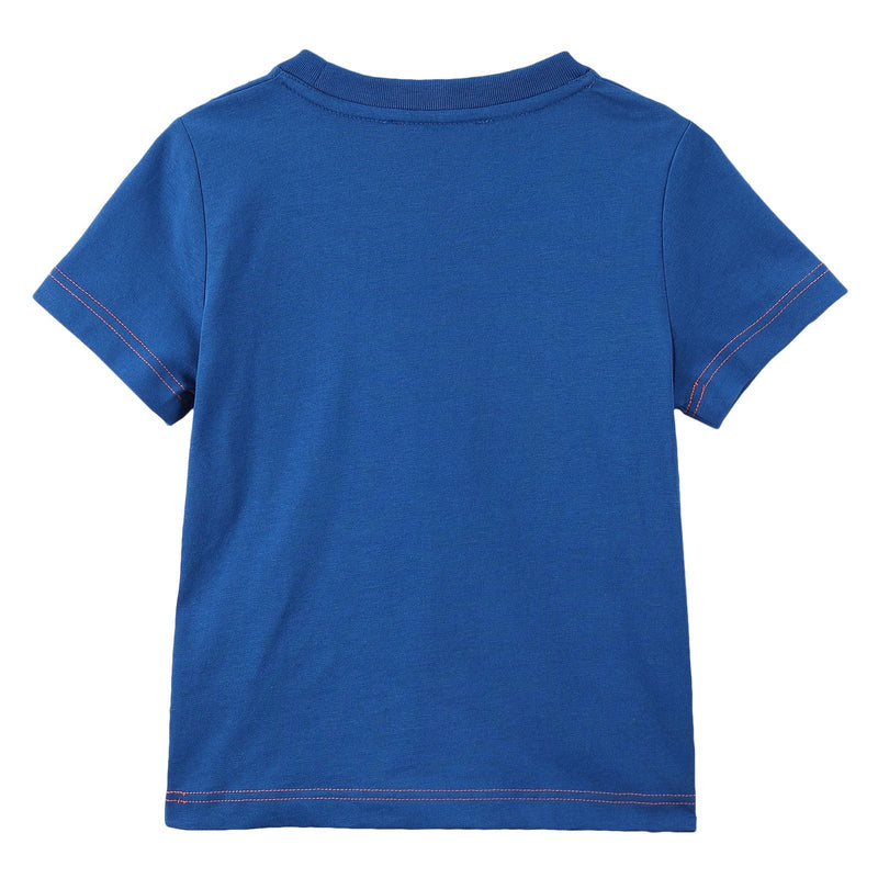 Boys Blue 'Mr Marc' Printed Cotton Jersey T-Shirt - CÉMAROSE | Children's Fashion Store - 2