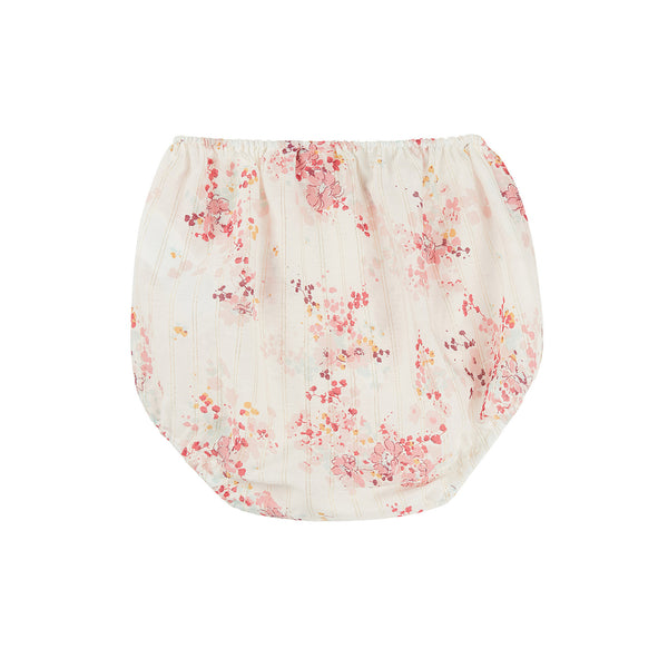 Baby Girls Light Pink Flowers Cotton Bloomers