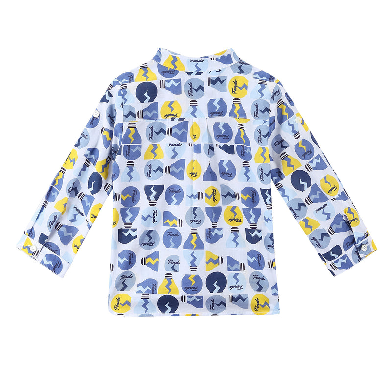 Baby Boys Multicolor All Over Printed Cotton Shirt - CÉMAROSE | Children's Fashion Store - 2