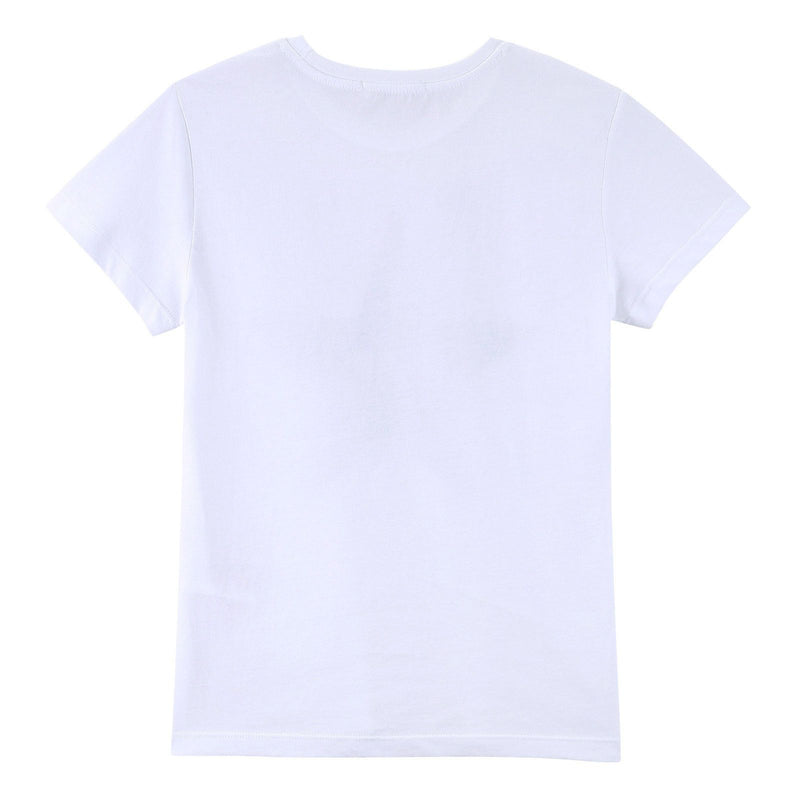 Boys White Cotton Jersey T-Shirt With Black Star Print - CÉMAROSE | Children's Fashion Store - 2