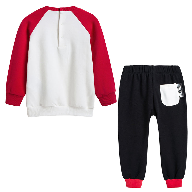 Baby White & Black Heart Tracksuit