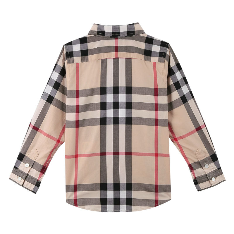 Boys Multicolor Classic Check Long Sleeve Shirt - CÉMAROSE | Children's Fashion Store - 2