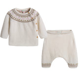 Baby Girls Ivory Wool Sets - CÉMAROSE | Children's Fashion Store - 1