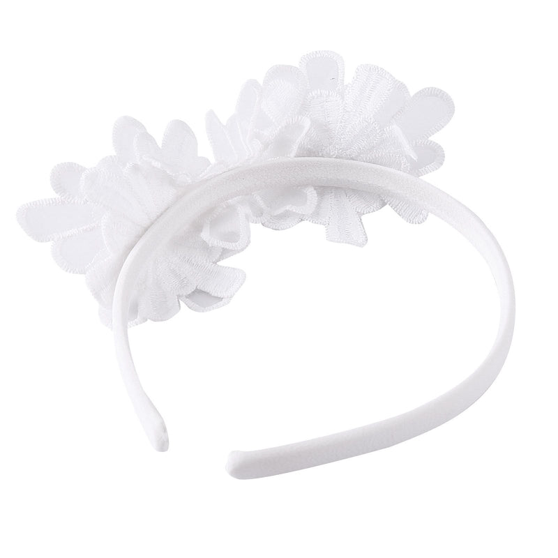 Girls White Lace Patch Flower Headband - CÉMAROSE | Children's Fashion Store - 2