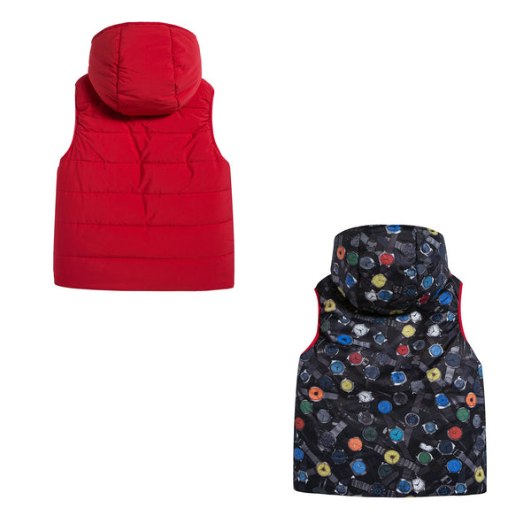 Boys & Girls Red Down Vest