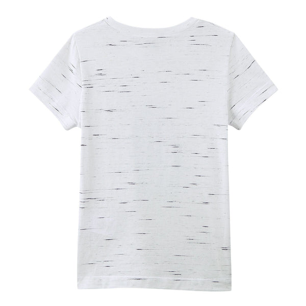 Boys White Cotton T-Shirt With Ink Karl Head Logo - CÉMAROSE | Children's Fashion Store - 2