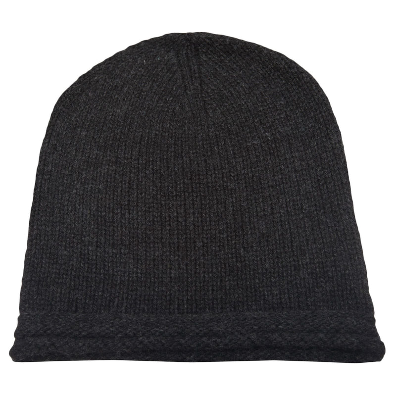 Boys Black Knitted Wool Hat - CÉMAROSE | Children's Fashion Store - 2