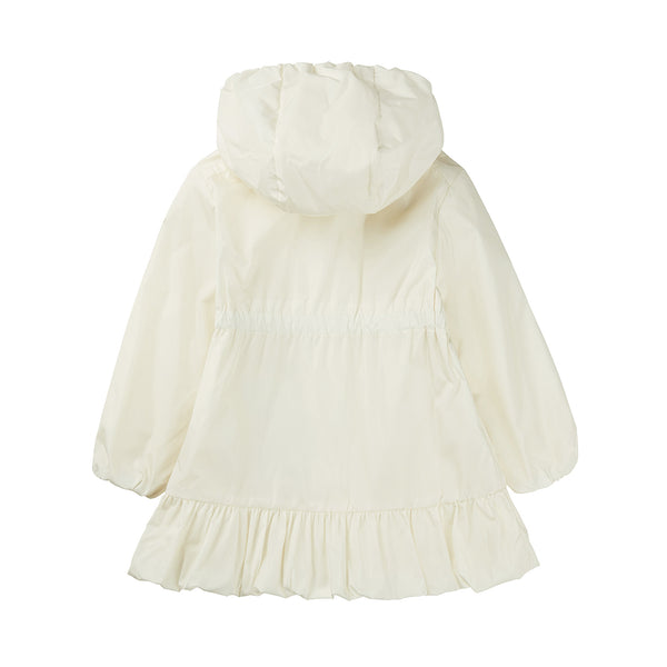 Baby Girls White Hooded Jacket
