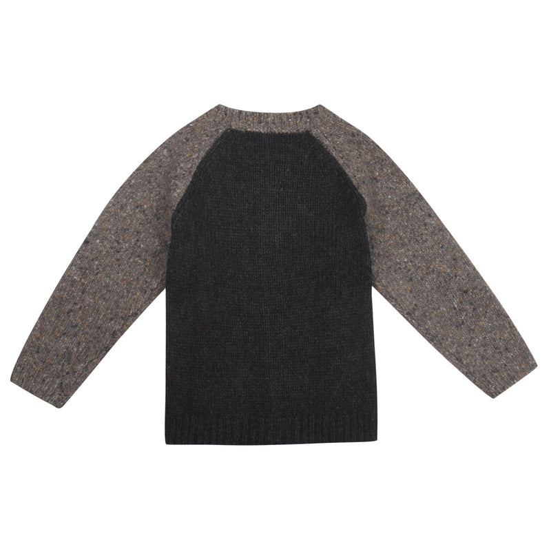 Boys Grey Knitted Wool&Contton Cardigan - CÉMAROSE | Children's Fashion Store - 2