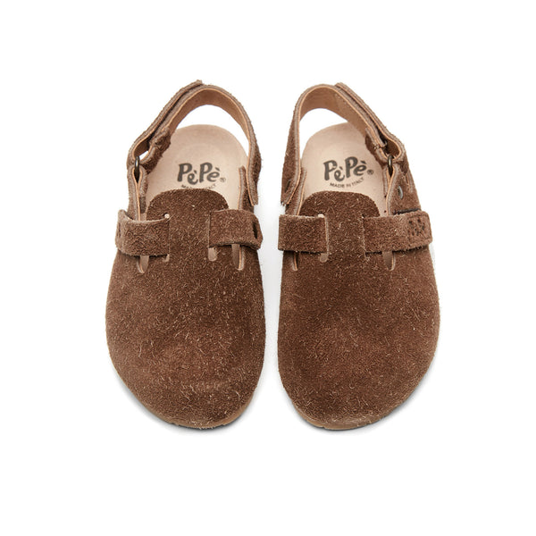 Boys & Girls Brown Slippers With Ankle Strap