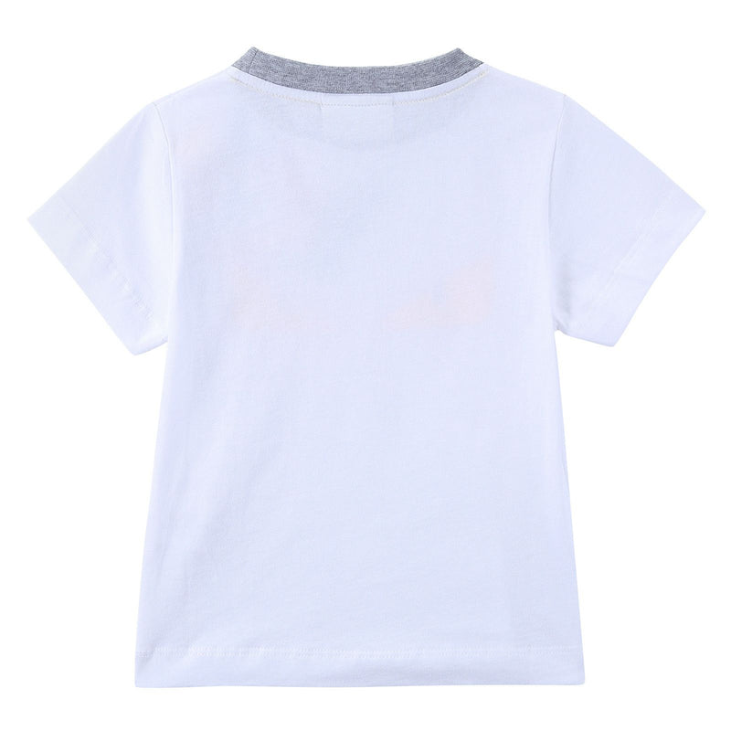Boys White 'Monster' Eyes Printed Cotton T-Shirt - CÉMAROSE | Children's Fashion Store - 2