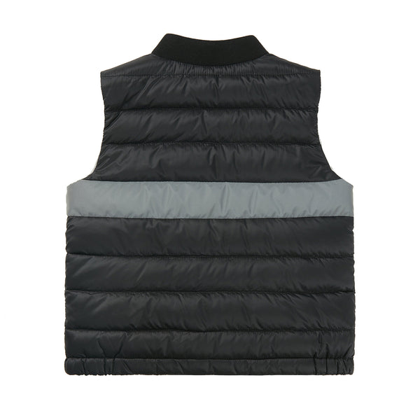 "Baby Boys Black ""LAUCH"" Padded Down Gilet"