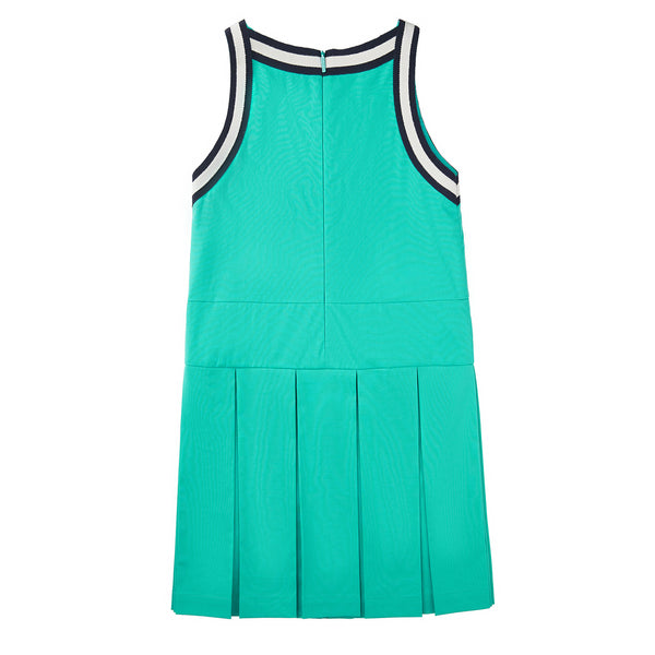 Girls Green Cotton Dress