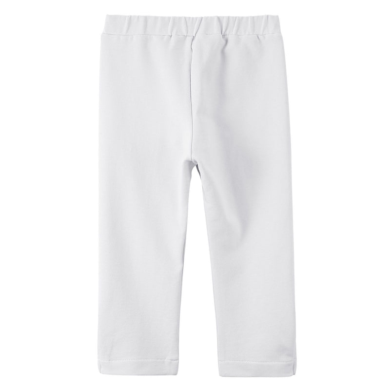 Baby Girls White Cotton Trousers With Gold Spot Trims - CÉMAROSE | Children's Fashion Store - 2