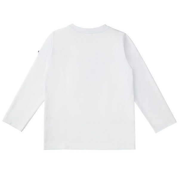 Baby Boys White Logo Cotton Top