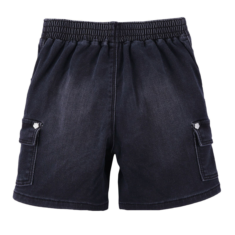 Boys Black Denim Effect Fleece Short - CÉMAROSE | Children's Fashion Store - 2