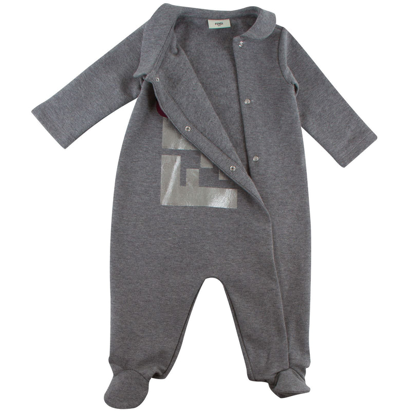 Baby Girls Dark Grey Monster Printed Babygrow - CÉMAROSE | Children's Fashion Store - 2