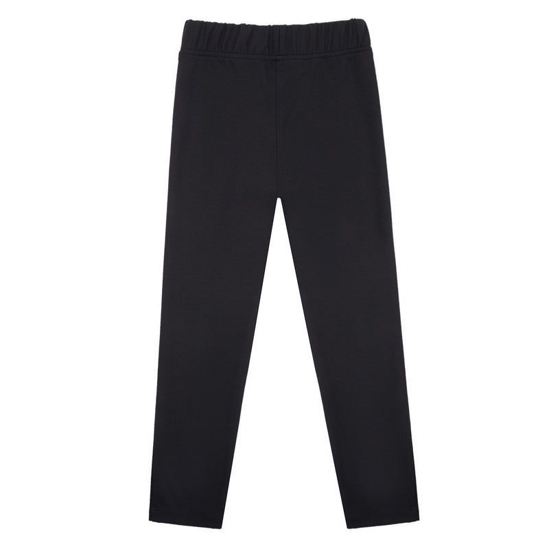 Girls Black Pocket Trousers