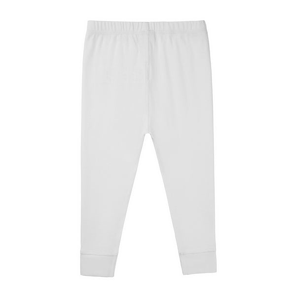 Baby Boys & Girls White Cotton Trousers
