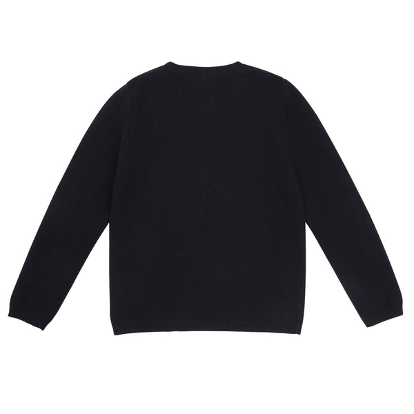 Girls Black Wool Sweater