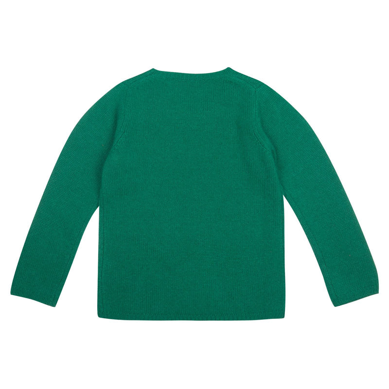 Boys Green Knitted Wool Greenwood Sweater - CÉMAROSE | Children's Fashion Store - 2