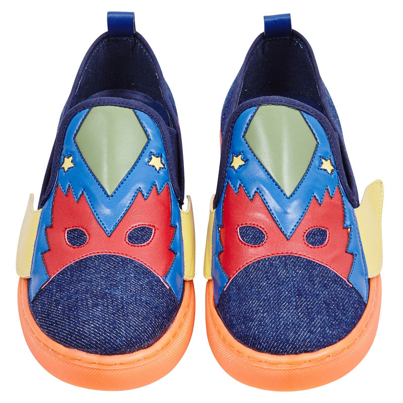 Leo Boys Multicolor Super Heroes Printed Denim Trainers - CÉMAROSE | Children's Fashion Store - 2