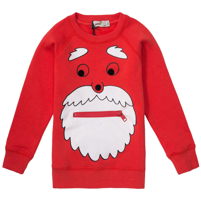 Billy Boys Red Prited Cotton Sweatshirt - CÉMAROSE | Children's Fashion Store - 1
