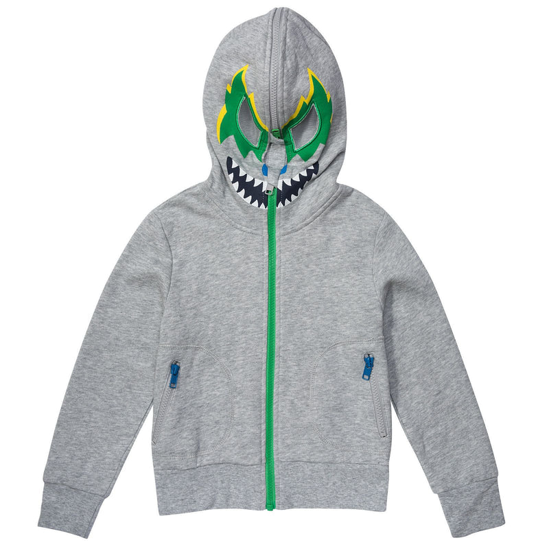 Bandit Boys Grey Hooded Zip-Up Top With Monster Print - CÉMAROSE | Children's Fashion Store - 1