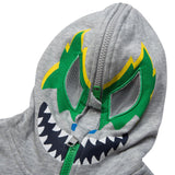 Bandit Boys Grey Hooded Zip-Up Top With Monster Print - CÉMAROSE | Children's Fashion Store - 3