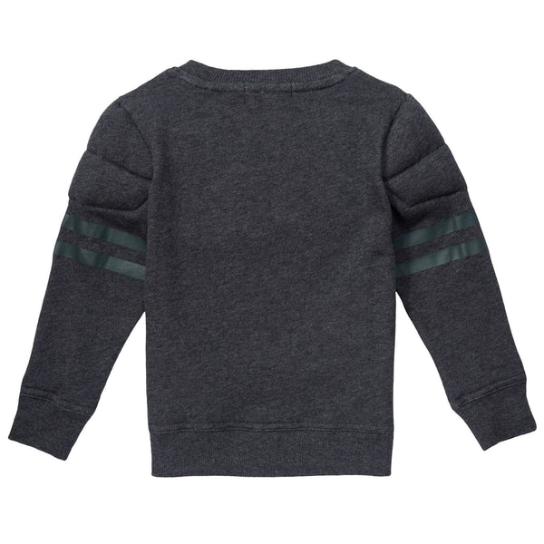 Rowbow Boys Dark Grey Fleece Sweatshirt - CÉMAROSE | Children's Fashion Store - 2