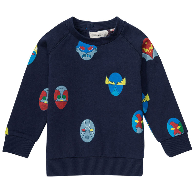 Billy Baby Blue Stella Super Heroes Printed Jersey Sweatshirt - CÉMAROSE | Children's Fashion Store - 1
