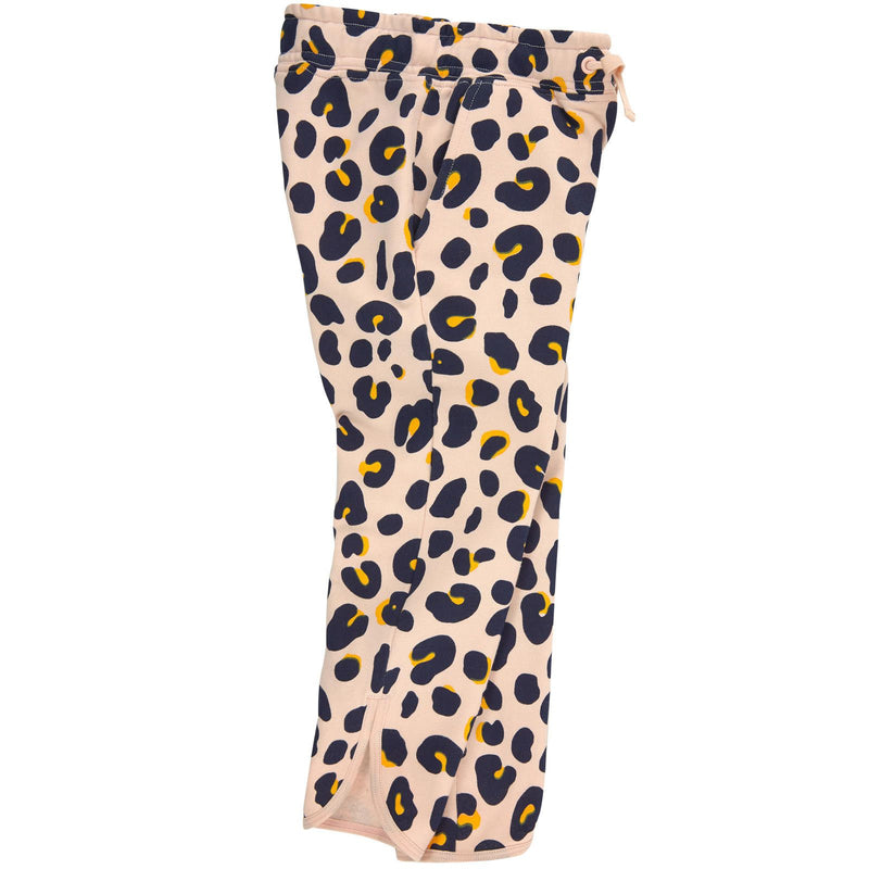 Emilie Girls Pink Organic Black&Yellow Leopard Printed Trousers - CÉMAROSE | Children's Fashion Store - 2