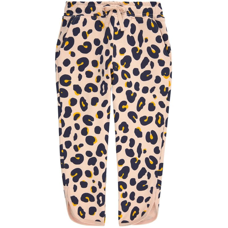 Emilie Girls Pink Organic Black&Yellow Leopard Printed Trousers - CÉMAROSE | Children's Fashion Store - 1