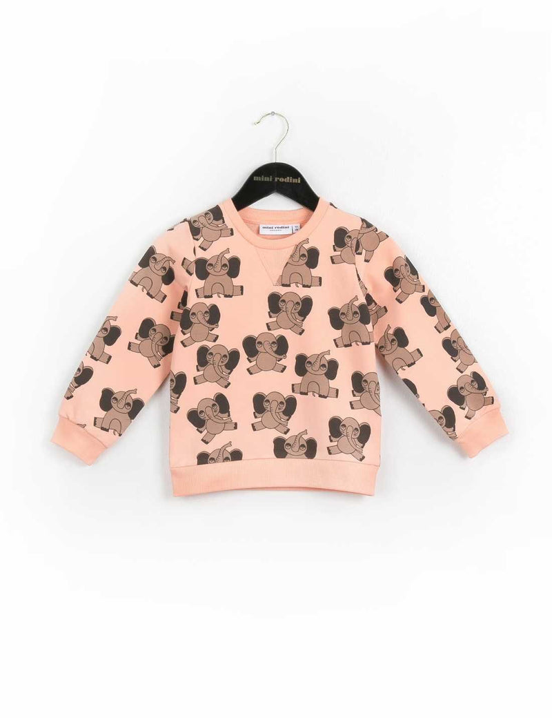 ELEPHANT AOP SWEATSHIRT PINK - CÉMAROSE | Children's Fashion Store
