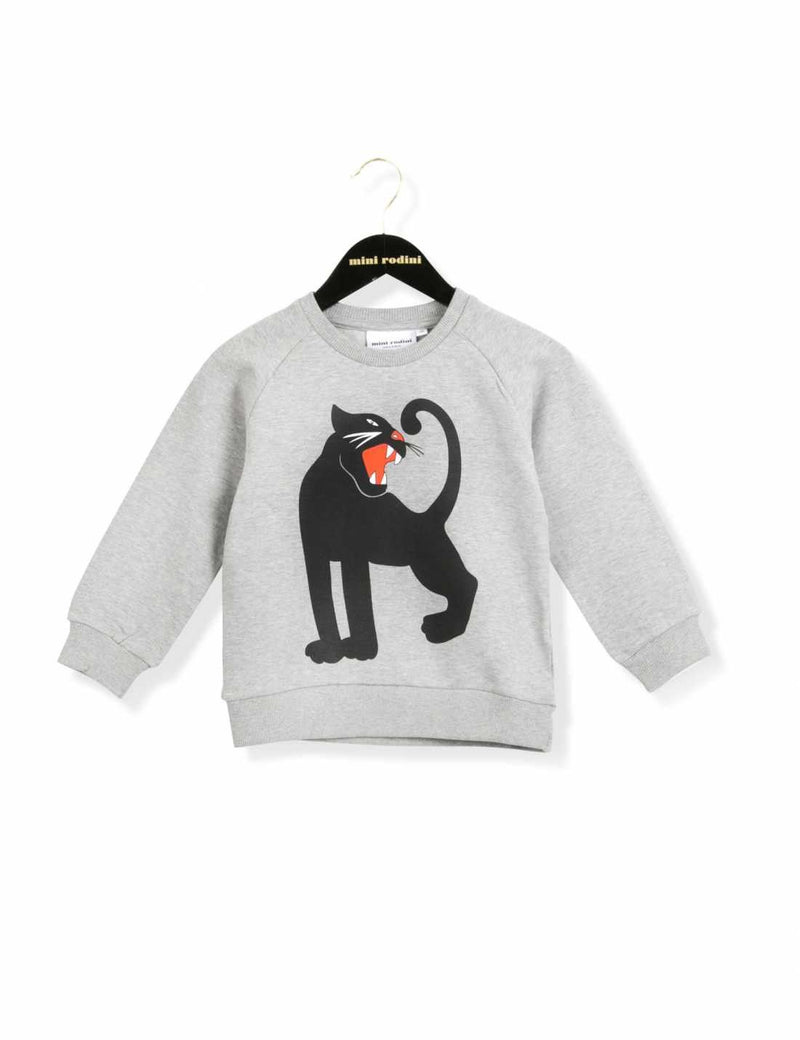 Panther Sweatshirt Gr Mel - CÉMAROSE | Children's Fashion Store