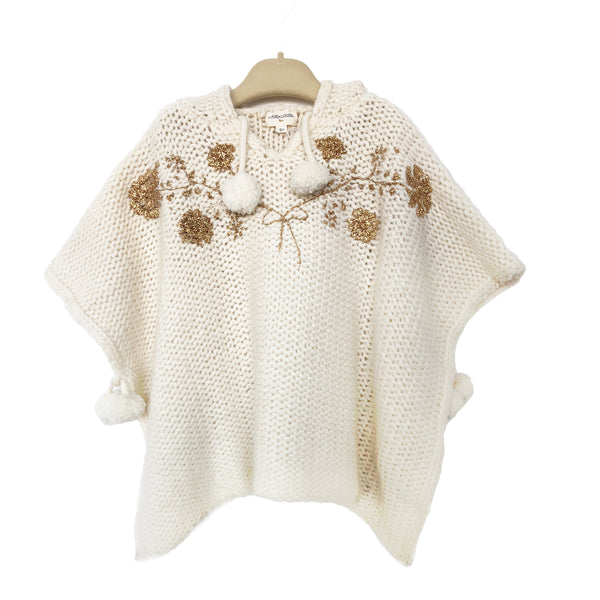 Girls Ceram Wool Knitted Poncho