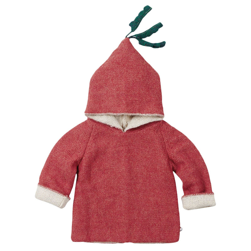 Baby Red Alpaga Wool Hooded Radish Sweatshirt - CÉMAROSE | Children's Fashion Store - 1