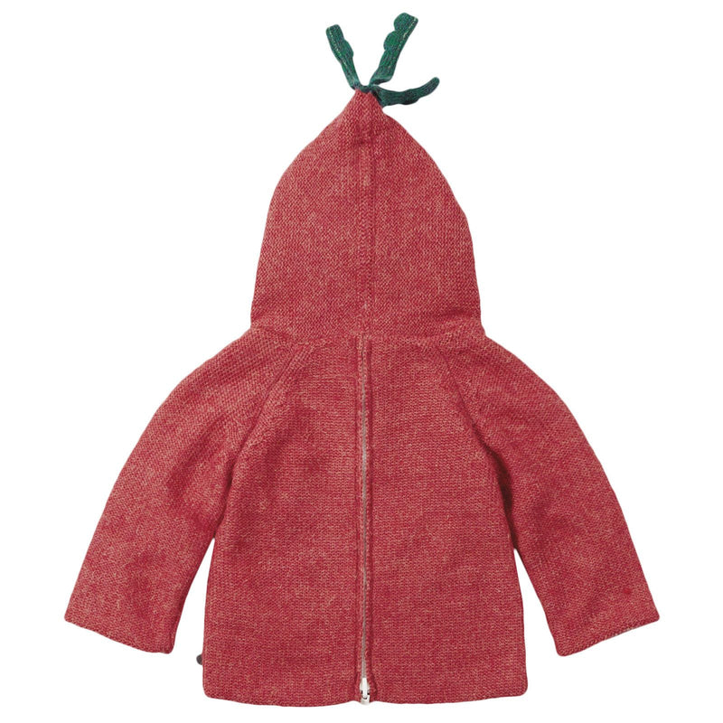 Baby Red Alpaga Wool Hooded Radish Sweatshirt - CÉMAROSE | Children's Fashion Store - 2