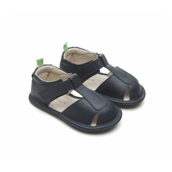 Baby Boys Navy Leather Sandal