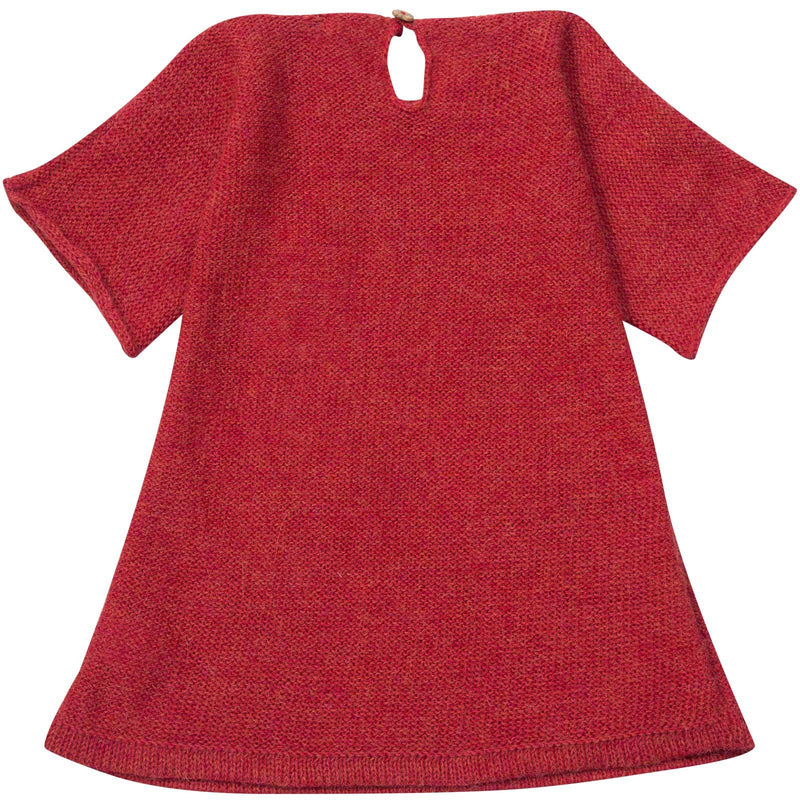 Baby Girls Red Alpaga Wool Patch Heart Dress - CÉMAROSE | Children's Fashion Store - 2