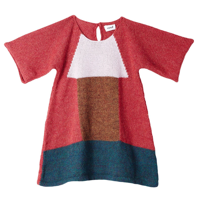 Baby Girls Red Alpaga Wool Zoe Dress - CÉMAROSE | Children's Fashion Store - 1