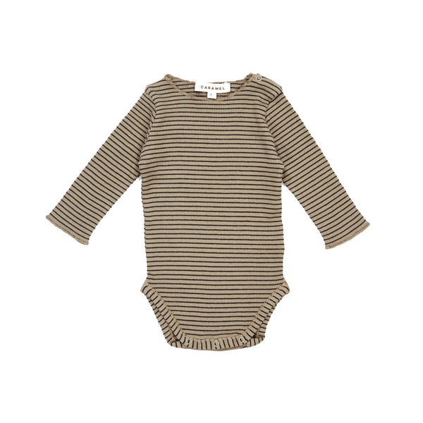 Baby Pewter Cotton Rib Babysuit