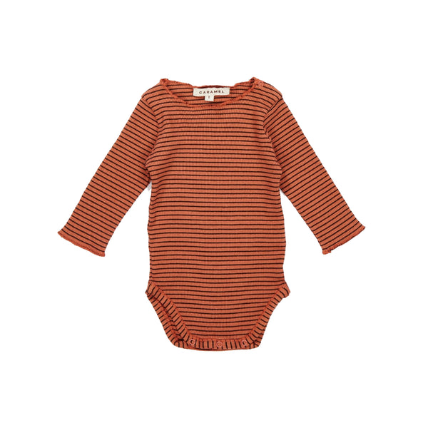 Baby Rust Cotton Rib Babysuit